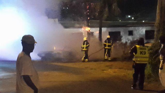 Car on Fire collarita road  (3)
