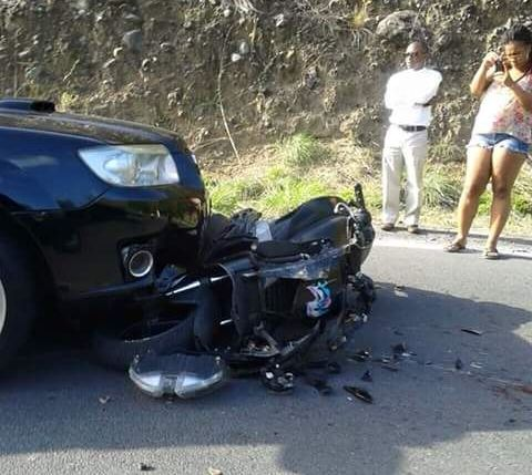 SUV and motor cycle involved in Tarreau, Dominica accident