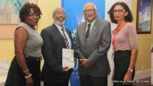 (L-R) Dr Heather Cateau, Dean of the Faculty of Humanities and Education; Dr Godfrey Steele, Editor of the Journal of Human Communication Studies; Professor Clement Sankat, Pro Vice-Chancellor and Campus Principal, The UWI St. Augustine and Dr Elizabeth Walcott-Hackshaw, Deputy Dean, Graduate Studies and Research, Faculty of Humanities and Education.