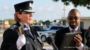 Commissioner of Police of the Royal Anguilla Police Force, Mrs. Amanda Stewart