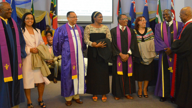 The new bishops and their wives following their ordination. (COGOP Leeward Photo)
