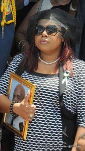 Mrs. Karena Benjamin, her son Keenan Benjamin. Photo by Gromyko Wilson / 721news.com