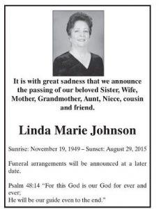 Mrs. Linda Marie Johnson,