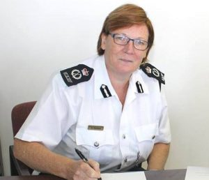Commissioner of the Royal Anguilla Police Force, Mrs Amanda Stewart.
