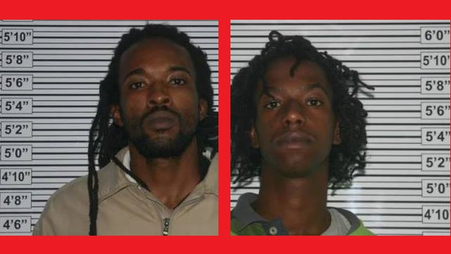 """On the left Patrick Denrick Hodge aka """"Ossie"""", DOB: 12/10/89 and on the right Raymel A. Adams aka """"Panther"""", DOB: 9/7/94"""