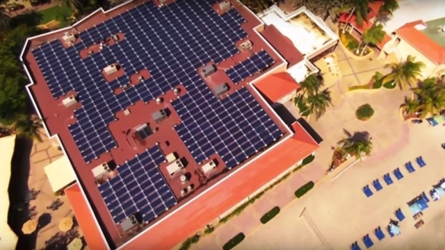 Divi Little Bay Beach Resort on St. Maarten has installed a 157kW solar electricity system to its main building. (PRNewsFoto/Divi Resorts)