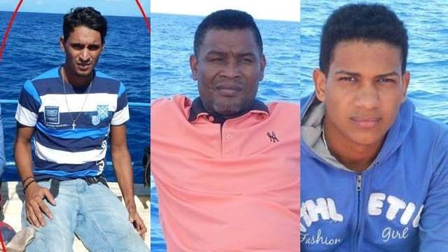 (L to R) Williams Felix, Mora Ando and Feliz Feliz Nationals of the Dominican Republic.