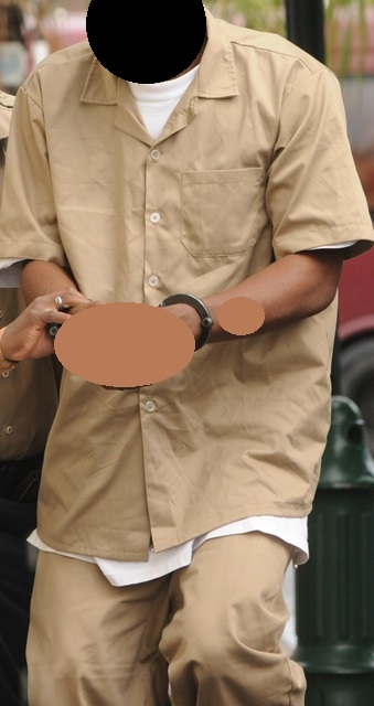 FILE PHOTO of the prison uniform colour Kaki. Furtune escape in this type of Uniform. If you had see a man dress in this uniform on Monday afternoon please contact the POLICE.