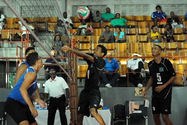 Alexander Augier of Saint Lucia recieves against Bermuda_ 01