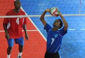 Alexander Augier of Saint Lucia sets against Dutch Saint  Marrten_ 01
