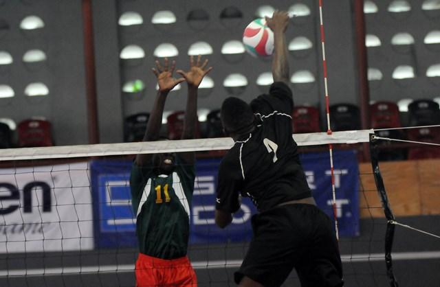 Anfereee Ferdinand of Saint Lucia spikes against Grenada_ 01