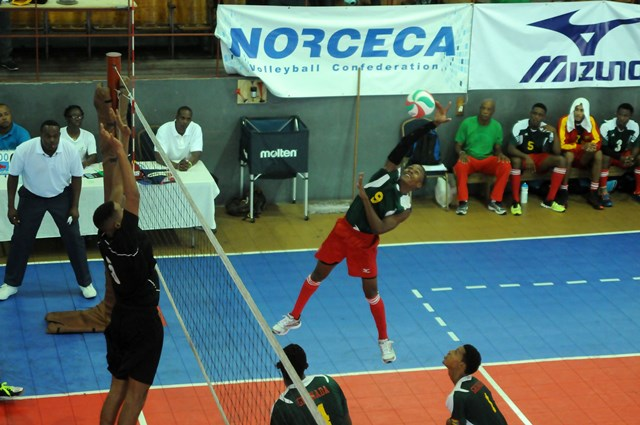 Antonio John of Grenada spikes against Saint Lucia_ 01