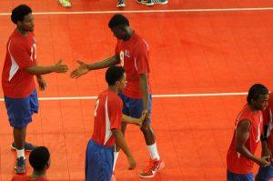 Celebration of Dutch Saint Marrten against ,Saint Lucia  01