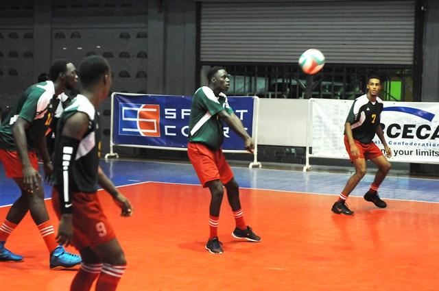 Dwayne Walcott of Grenada receives against Bermuda_ 01