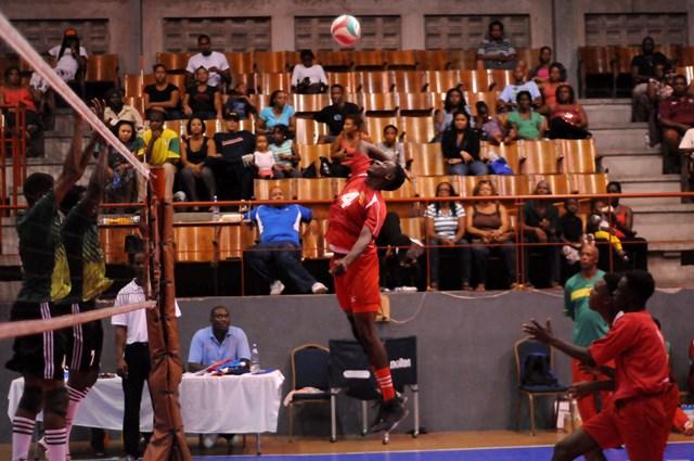 Nikel John of Grenada spikes against Dominica_ 01