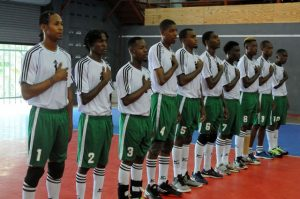 Team of Dominica during the national anthem against Bermuda_01