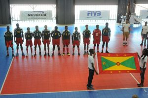 Team of Grenada during the national anthem against Saint Lucia_ 01