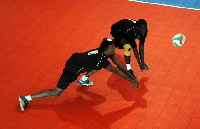 Tevin St. Jean of Saint Lucia receives against Grenada_ 01
