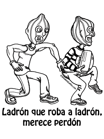 Refranes-Puerto-Rico-Spanish-Slang-Ladron-que-roba-ladron-merece-perdon