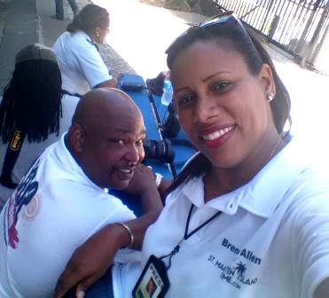 (L-R) Samuel Allen Jr. and his wife Brenda Allen is seen on Monday Sept. 26, 2016 covering the 2016 Parliamentary Election.