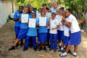Thanks to educators at the National Environment and Planning Agency (NEPA), youth in Jamaica were treated to a field trip that included birding and a nature scavenger hunt using BirdSleuth Caribbean materials published by BirdsCaribbean. (Photo courtesy of NEPA)
